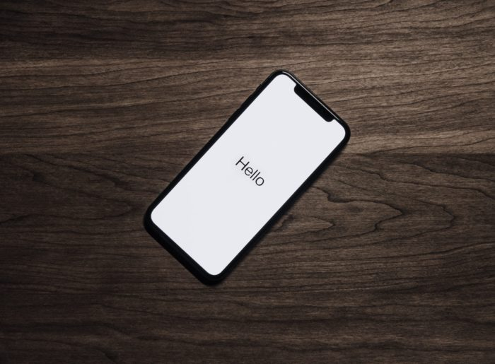 iphone on table
