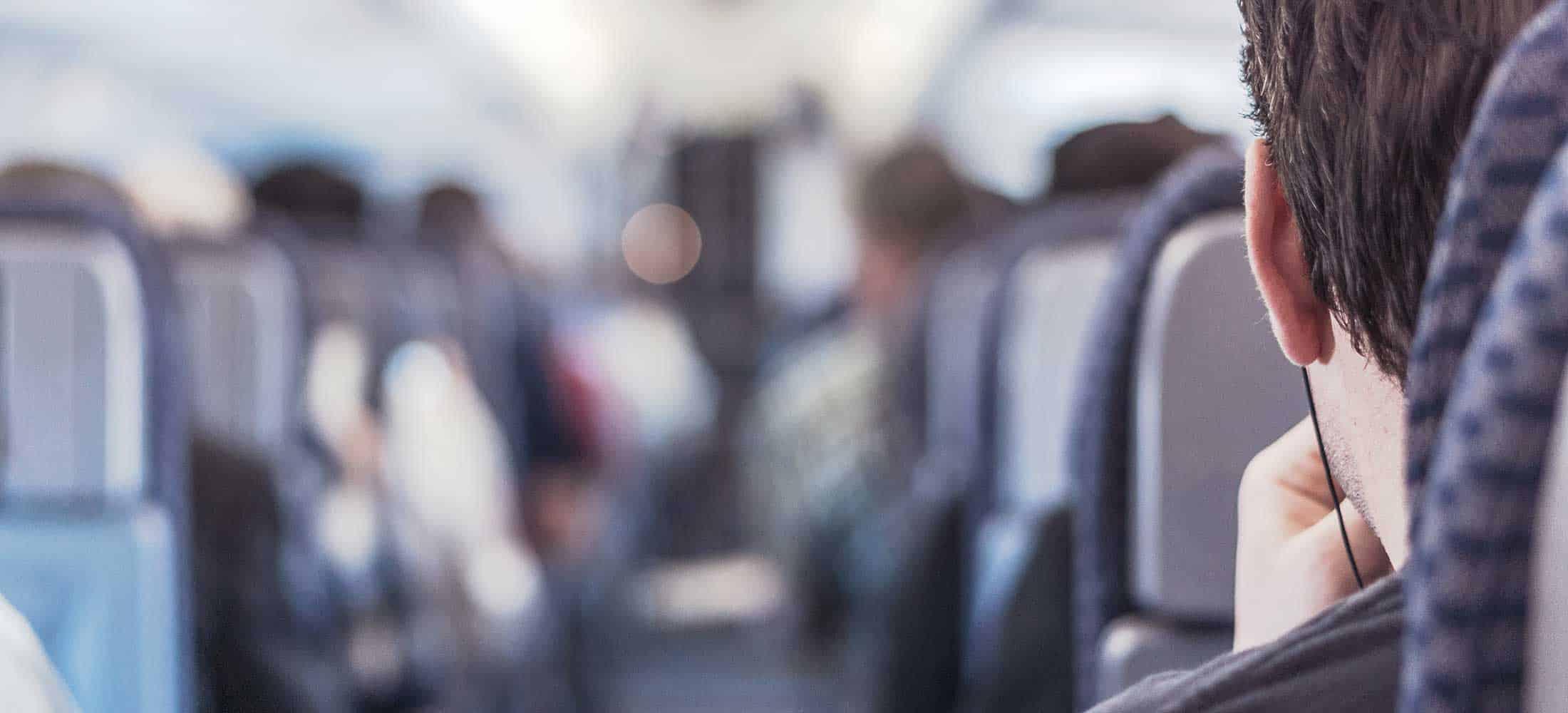 Man on an airplane