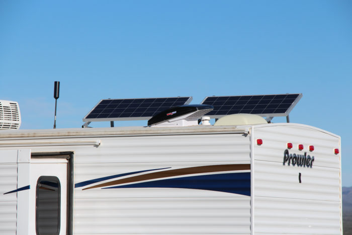 solar panels on trailer roof